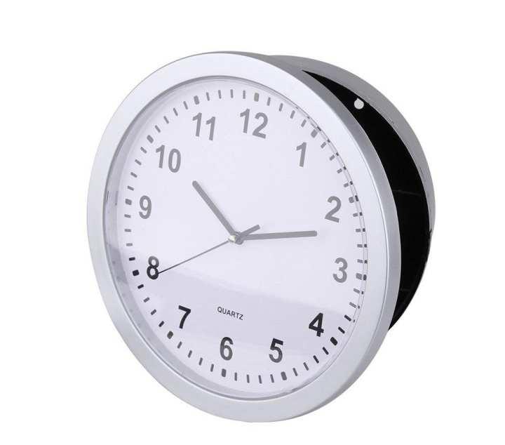 1 X Hidden Safe Wall Clock Round