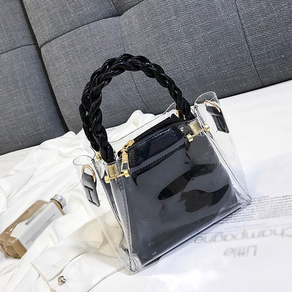 c89d7999787f Perfect Meet Fashion Fashion Lady Transparent Jelly Wild Woven Portable  Messenger Bag Shoulder Bag