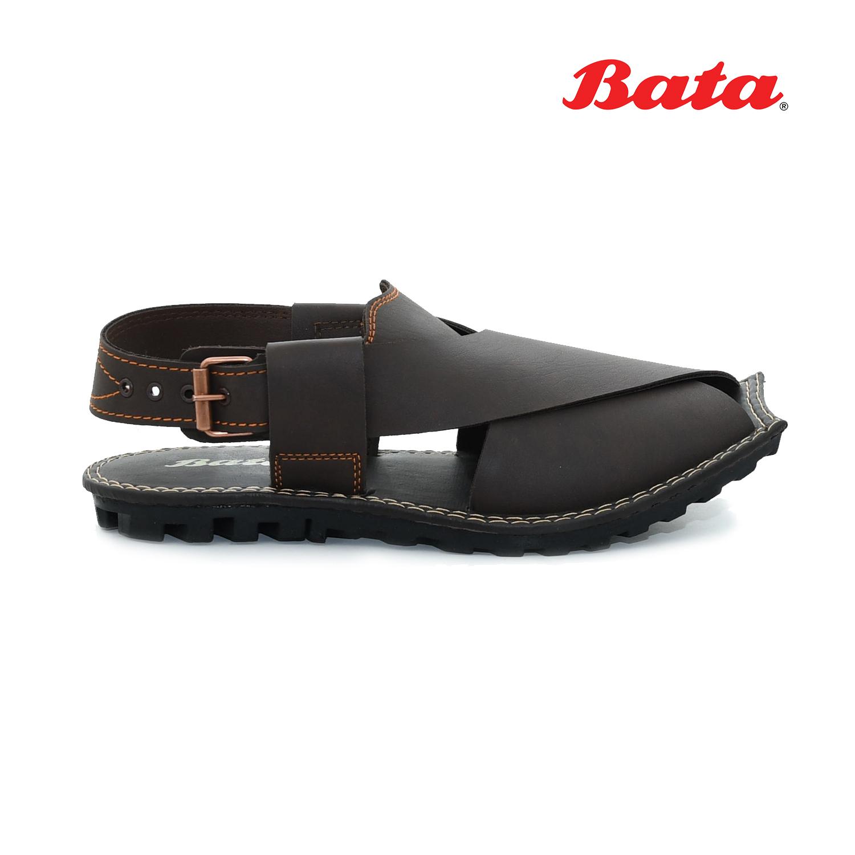 Bata shoes for Men sandal in brown 8614316