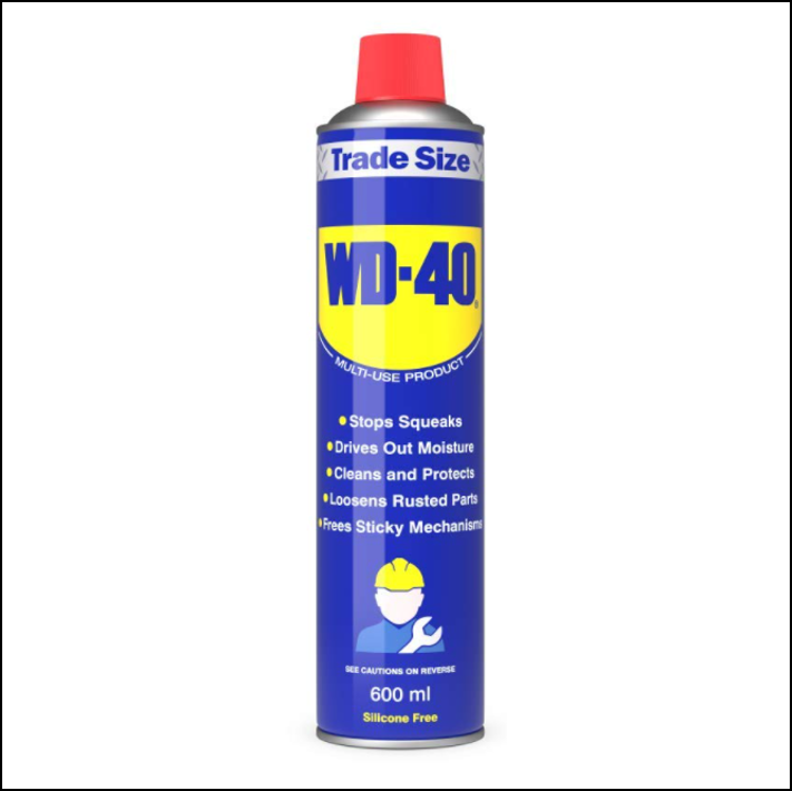 WD40 Spray 600ml Trade Size - Multi use Rust Removing Product