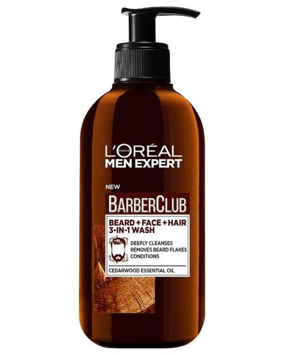 Barber Club Beard, Face & Hair Wash - 200ml