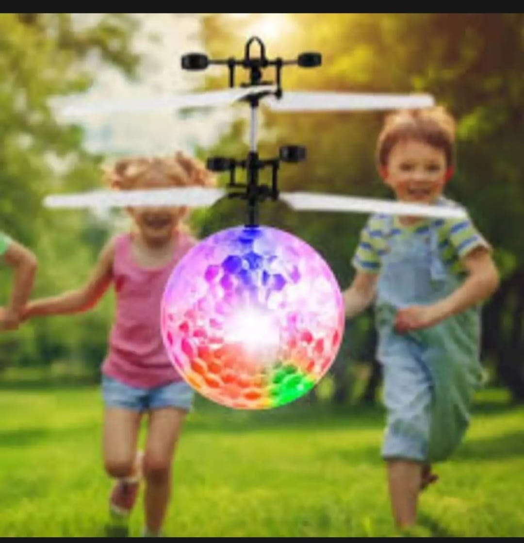 Rc flying drone ball helicopter for kids infrared technology