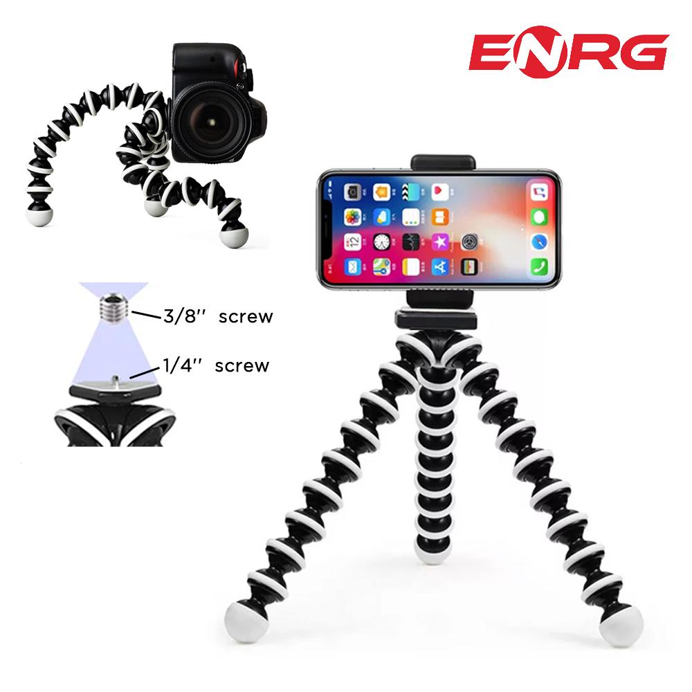 ENRG Gorilla Pod Flexible Tripod Stand Mini Octopus Tripod With Mobile Holder For Mobile Phone DSLR Gopro Digital Camera - Large Size (8.55 Inches)