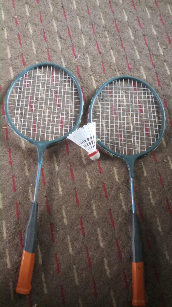 2 Badminton Rackets For Kids + Shuttle