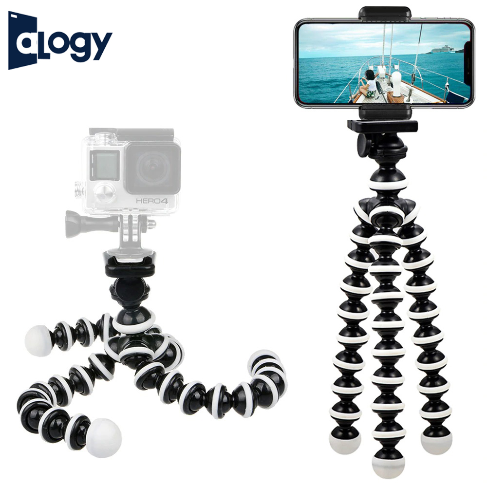 ALOGY LARGE Gorilla Pod Flexible Tripod Stand Mini Octopus Tripod (8.55 Inches) Tripod With Mobile Holder For Mobile Phone DSLR Gopro Digital Camera - Large Size  (8.55 Inches)