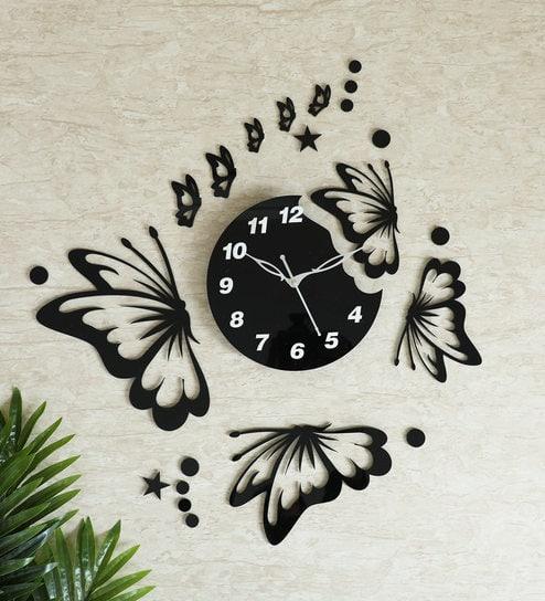 Acrylic Large Wall Clock Modern Design 3d Living Room Quartz Wall Sticker Diy Clock Silent Home Decor Black Buy Online At Best Prices In Pakistan Daraz Pk
