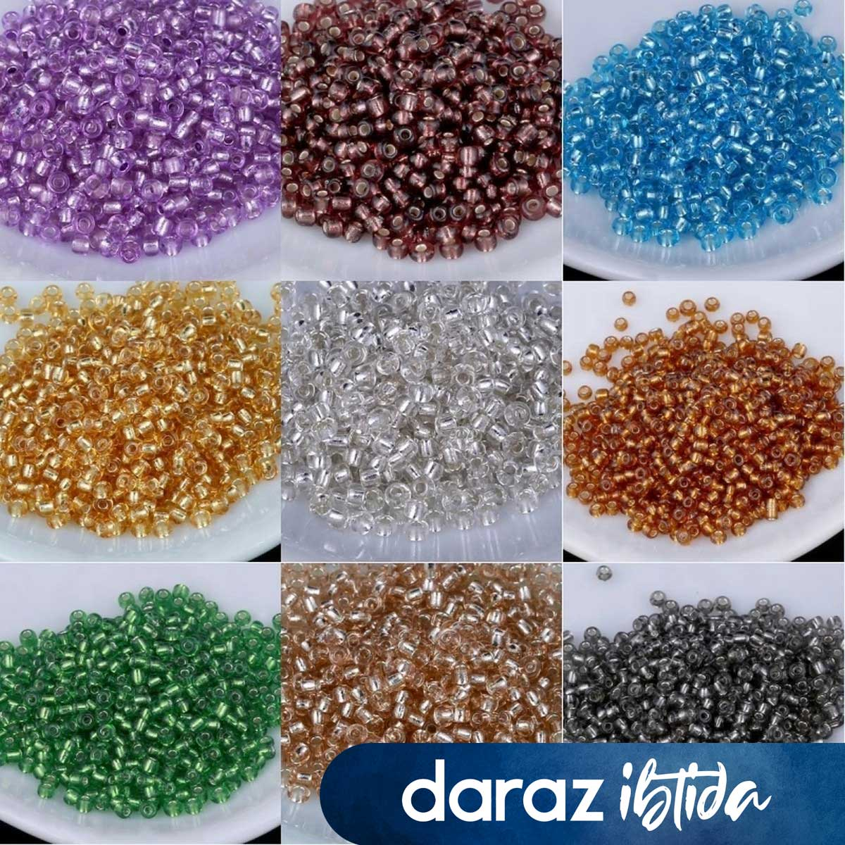 0.5 / 12 colour 1200Pcs 11/0 Beads 1.3x1.6mm Dyed Color Spacer Glass Seed beads For DIY Jewelry Making Accessory