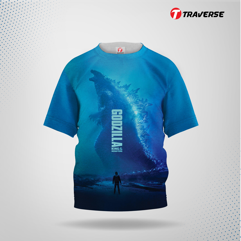 Godzilla Digitally Printed Fashion T-shirts for Kids by Traverse