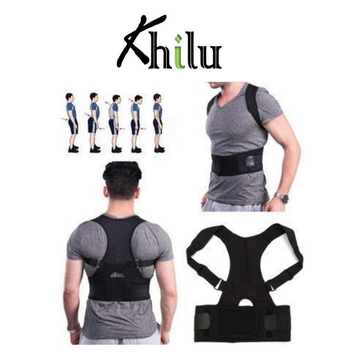 Posture Corrector Belt Real Doctor Full Back Posture Support Clavicle Spine Shoulder Brace Adjustable Back Pain Reliever for both Men and Women
