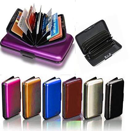Black Stylish Aluma Wallet Card Holder