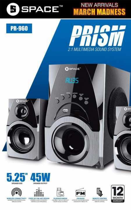 Space - PRISM - 2.1 Multimedia Sound System - (PR-960)