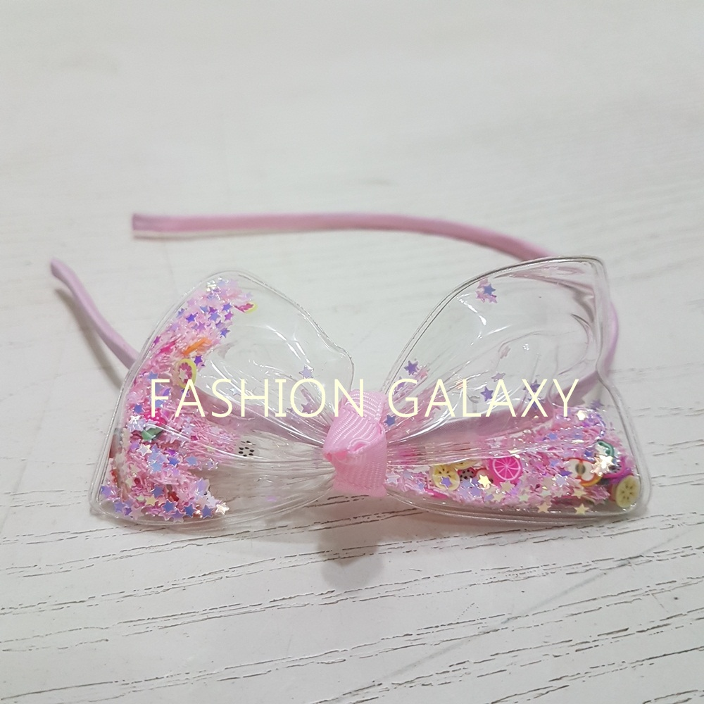 Beautiful Shining Stars Inside The Bow Hair Band For Kids