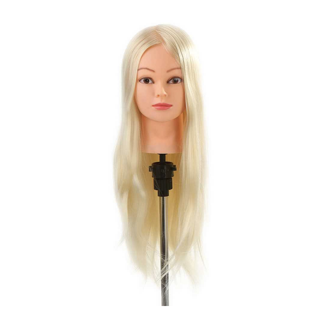 Imported Synthetic Premium quality Hair practice Dummy 24inches Blond with free table stand