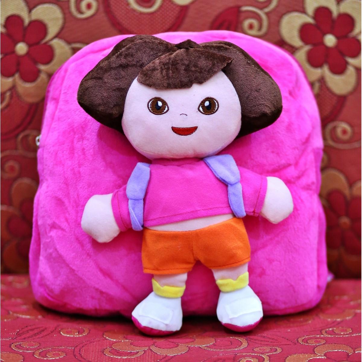 Dora Character Plush Backpacks School Bag Plush Toys Stuffed Doll Birthday Gift for Children Kids Toys