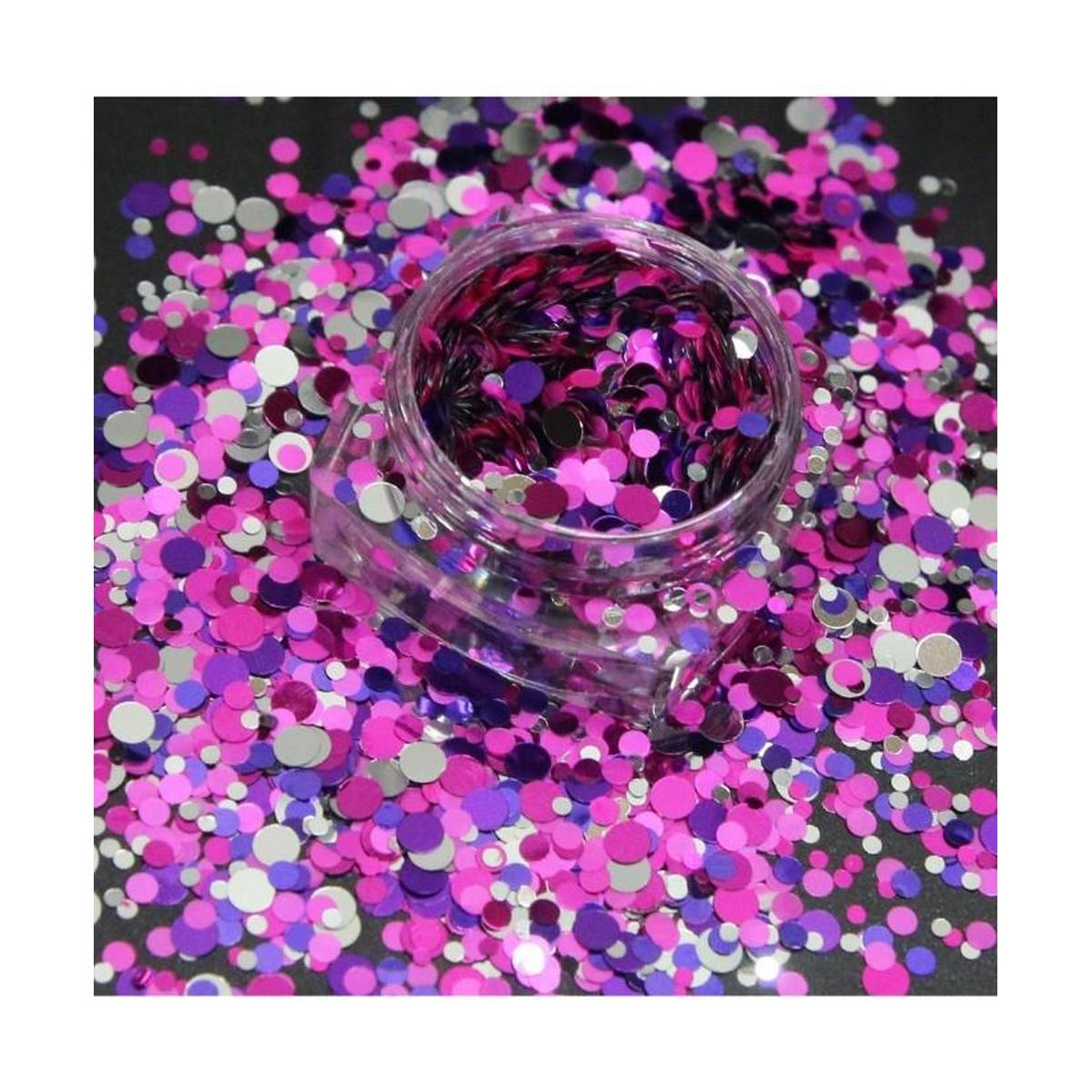 3g Purple Blue and Sliver Glitter Pot For Nails