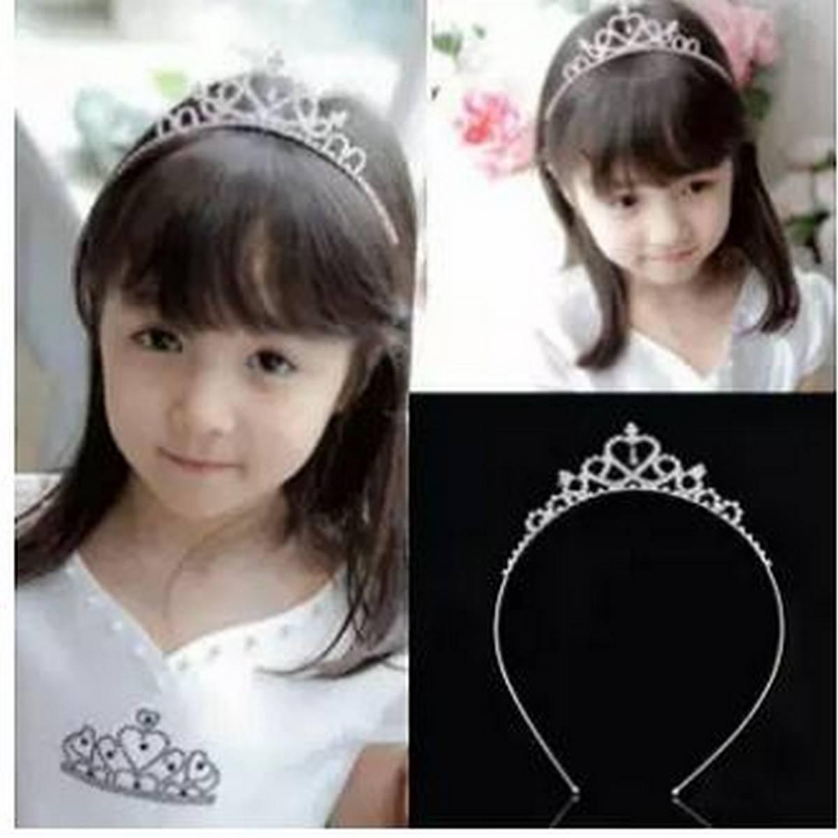 Silver Crown Headband For Girls