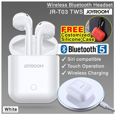 8a17309bd27 APPLE Wireless Bluetooth AirPods JOYROOM JR-T03 Bluetooth 5.0 Bluetooth  Headphones TWS Wireless Earbuds Earphones