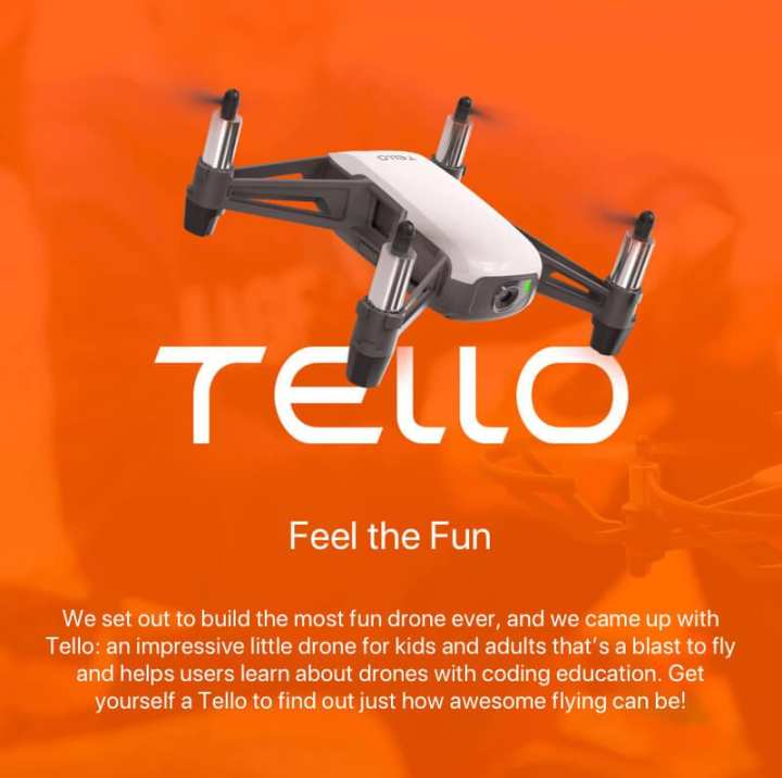 DJI Tello Quadcopter Drone with HD Camera and VR - Powered by DJI Technology and Intel Processor