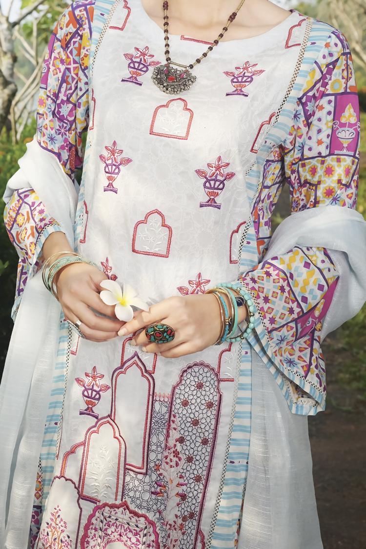 97b550067b Almirah Summer Spring Collection Vol.01 2019 FUSHIA Unstitched - 3Pcs Suit  for Women