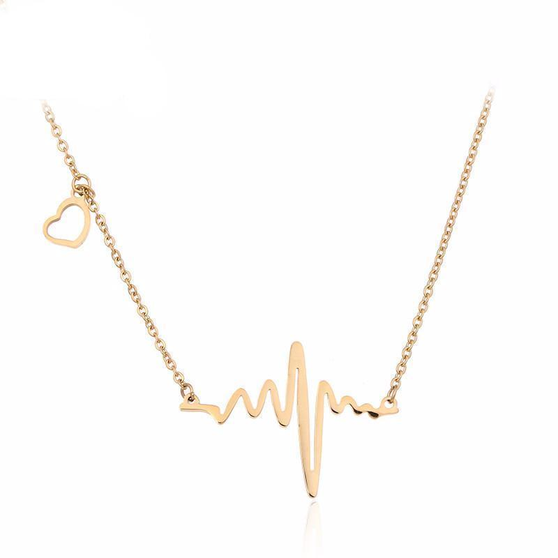 Best & High Quality  Lovely Chain for Girls Heart Beat waves Necklace Specially for gift of your loveone Necklace for women