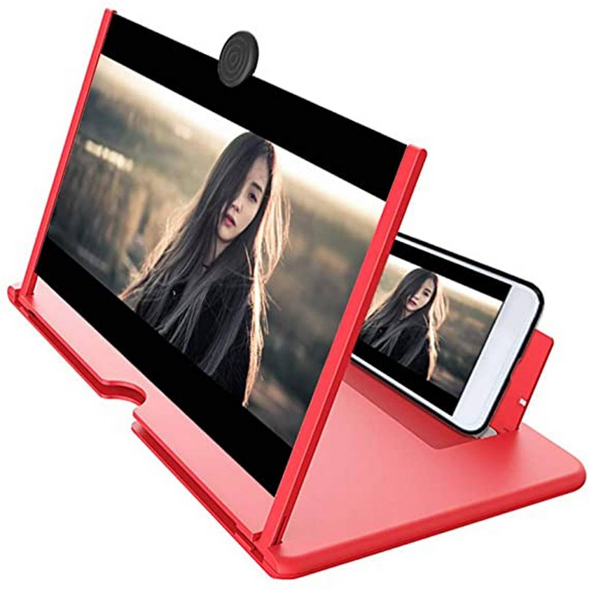 12 inch Mobile Phone 3D Screen Video Magnifier Folding Curved Smartphone Movie Amplifying Projector Stand Bracket