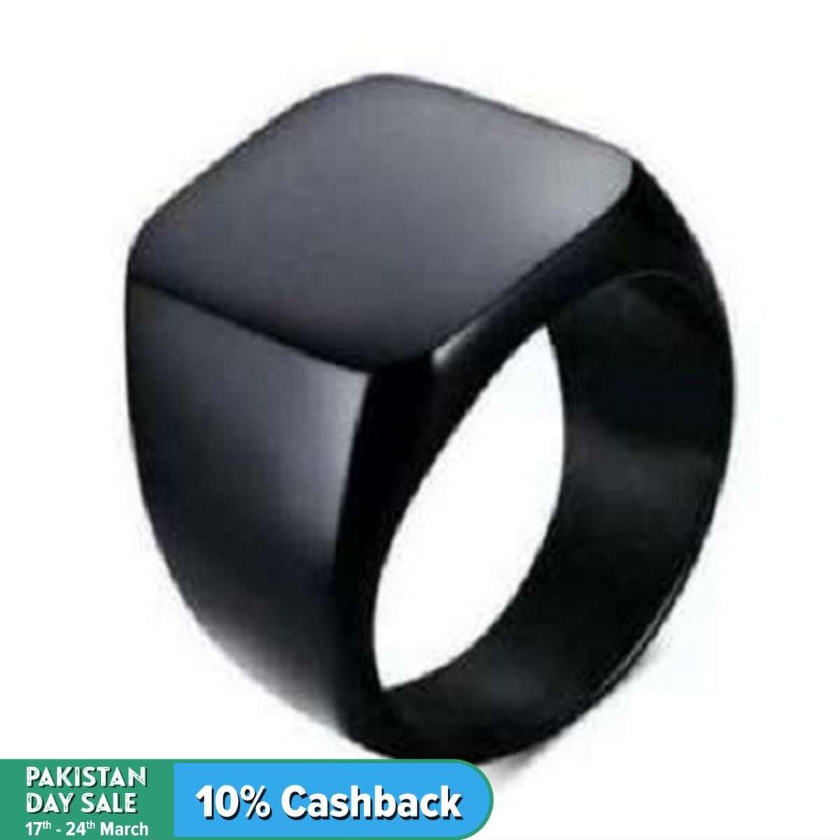 Black Titanium Punk Ring For Men Limited addition