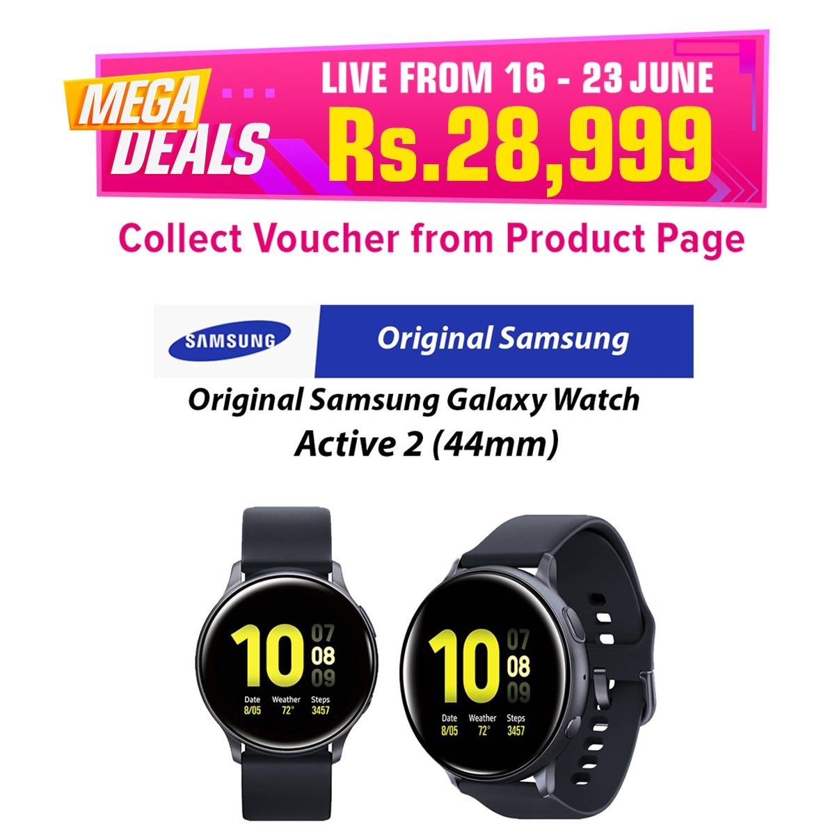 Samsung Galaxy Watch Active 2 Bluetooth (44mm) Fitness Watch/ Fitness Tracker Black SM-R820NZKAXAR