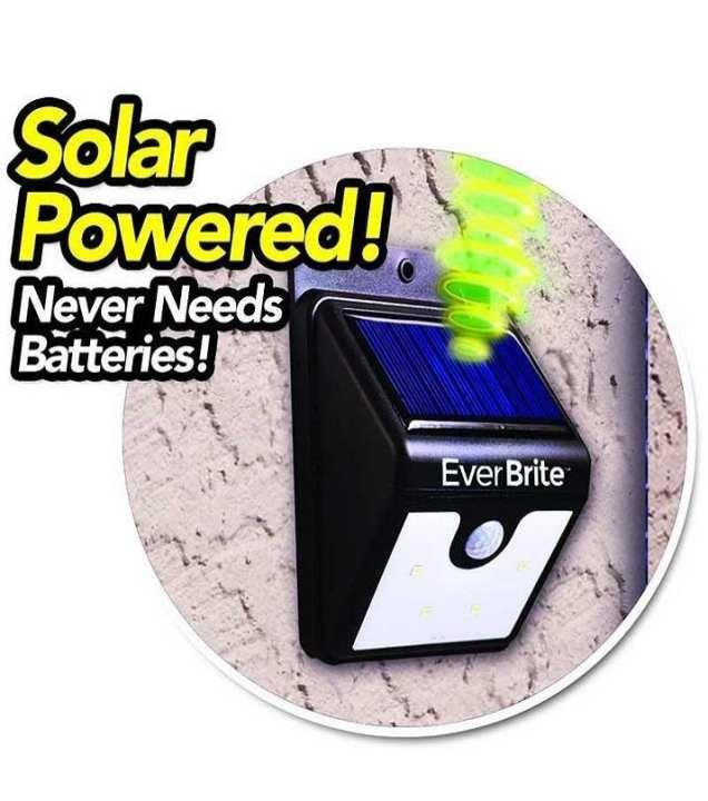 Ever Brite Solar Light - Black