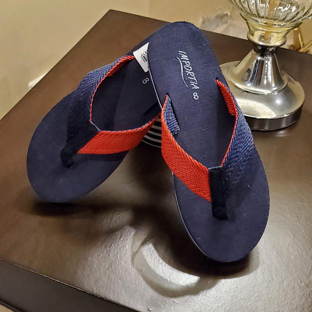 Red & Blue Importia All Season Flipflops/Slippers For Men