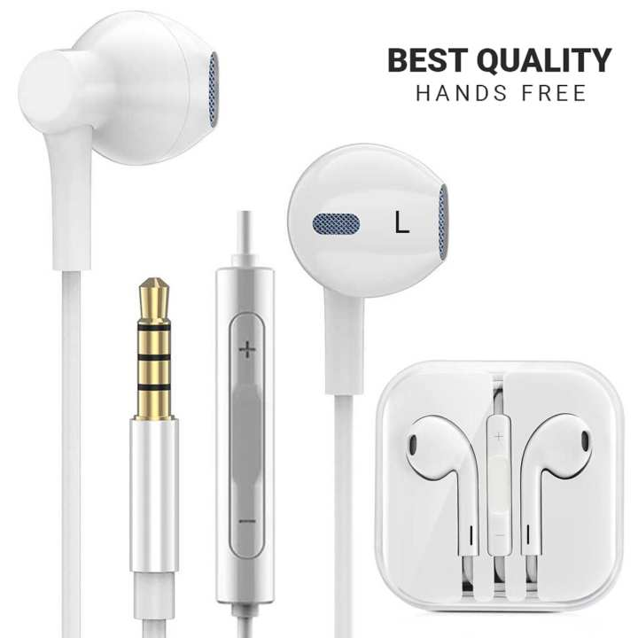 (BEST QUALITY) 100% Brand New Classy Universal Hands Free for iPhone Android Laptop Desktop iPad Devices with Good Quality Audio without Sound Loss