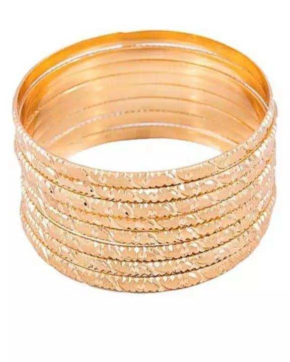 Stylish 24k Gold Plated Bangles - 8pcs - Jewellery