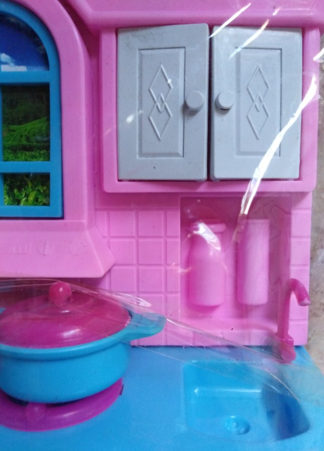 Kitchen For Barbiee With Fix Accessories Nice Playing Gift For Kids