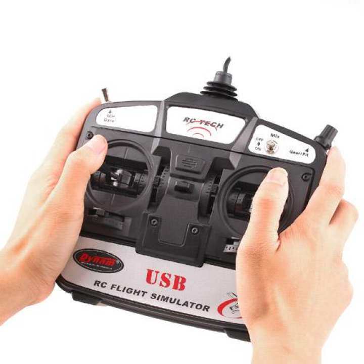 New RC Tech 6 CH Flight Simulatorr Remote Control w/ Software for Helicopters/ Airplanes