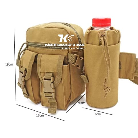 Multiple Use Waist Pouch For Mens With Bottle Holder