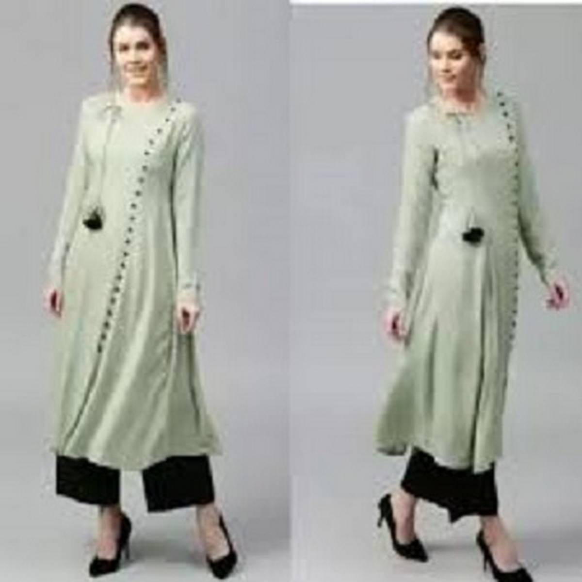 Linen casual wear stitched two-piece suit