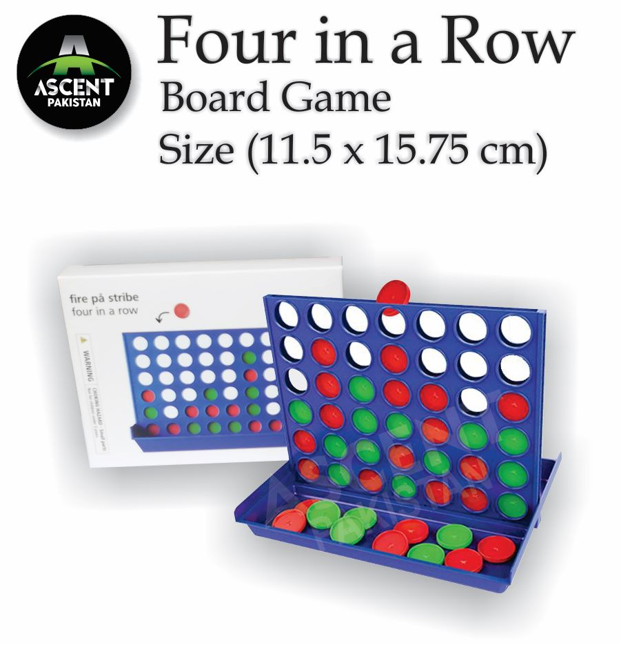 Connect Four-4 in the line/ Four-4 in a row - Board Puzzle Game for Children Adults, Educational Plastic Challenging Toy