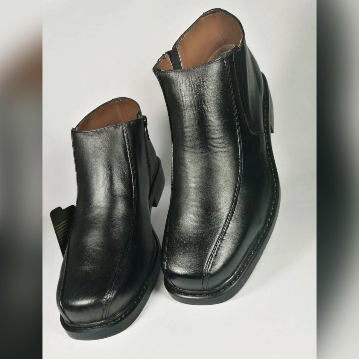 Servis Don Carlos Black Ankle Zipper Shoes DC-NC-4100