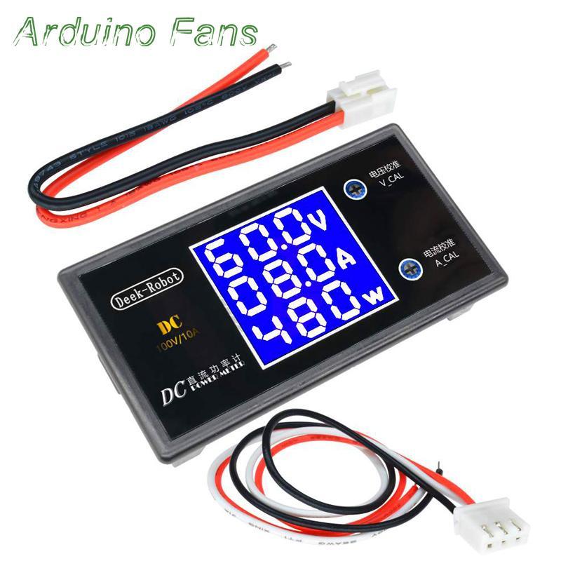 DC 0-100V 10A LCD Digital Voltmeter Ammeter Wattmeter Voltage Current Power  Meter Volt Detector Tester 1000W By Arduino Fans