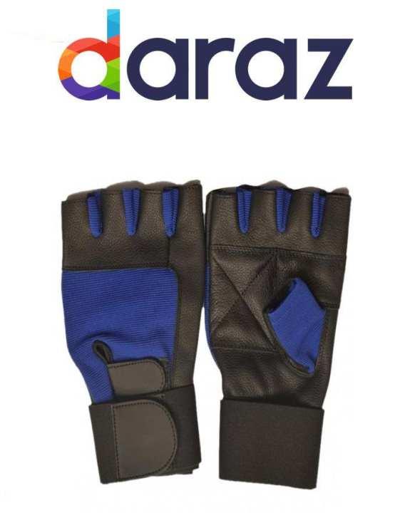 Wrist Wrap Lifting Gloves gym fitness yoga boxing - Black