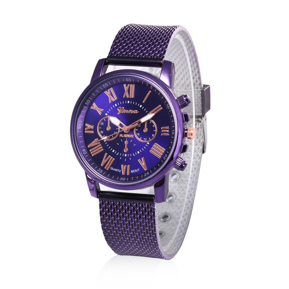 1173cd7d30c1c4 Geneva Woman's Watches ,Fashion PU Leather Watch Casual Stainless Steel  Wrist Watch
