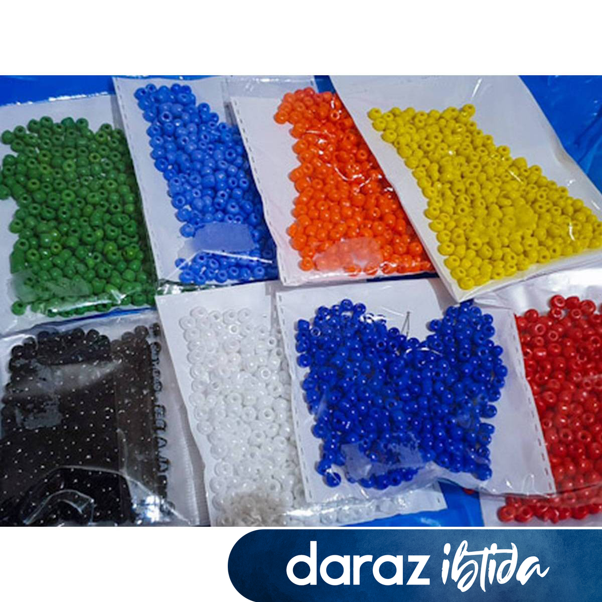 0.8 Bead Multi Beads Plastic 300grm 18 colour 1400pc Sewing Jewelry Making DIY Handmade Accessories Craft supplies