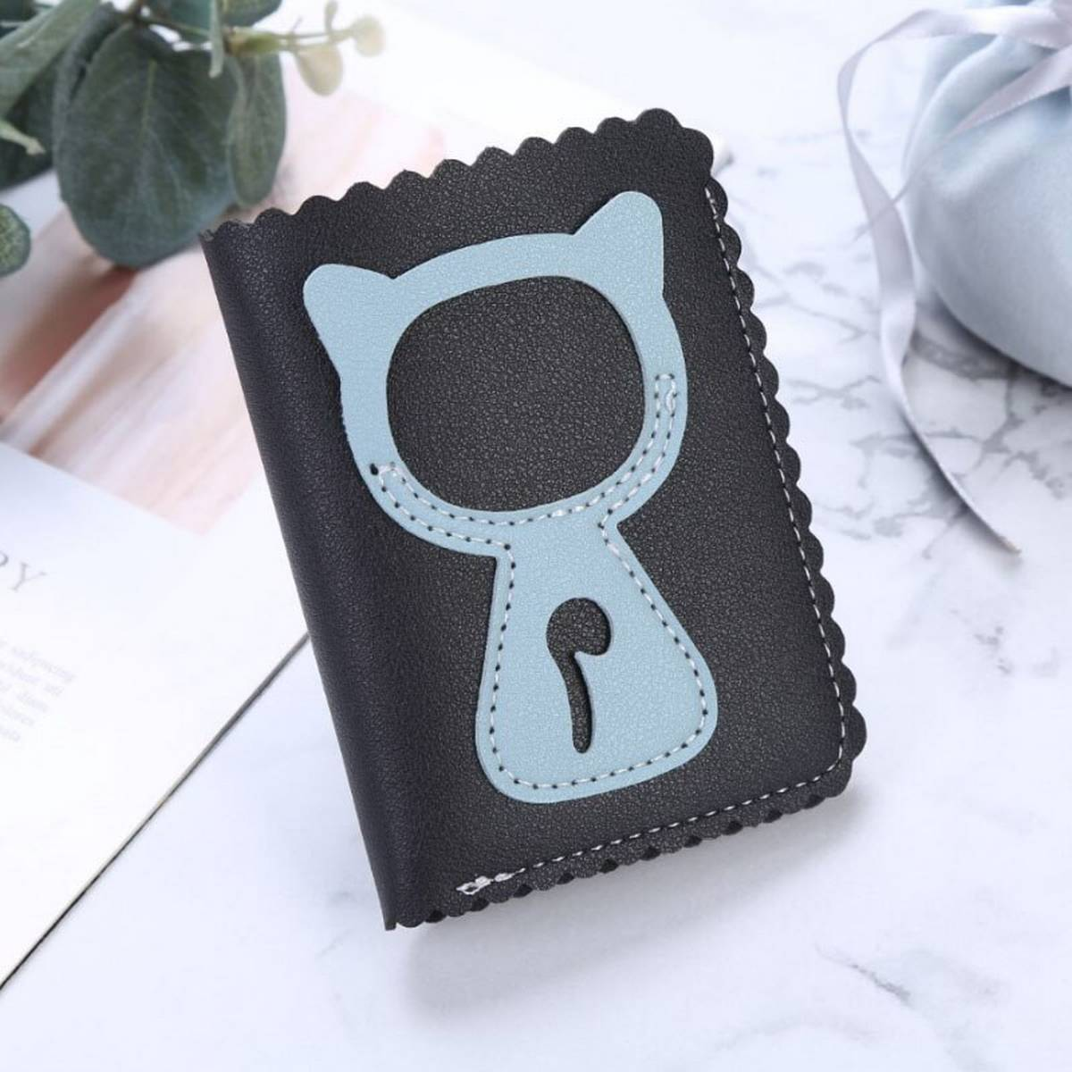 Cat design hand mini Wallet for girls women card holder wallet for women