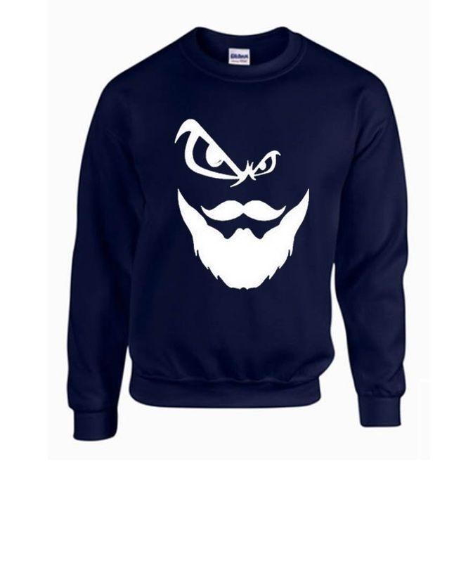 2b0373370 ADD TO CART. Navy Blue Round Neck Printed Sweatshirt Fabric Fleece