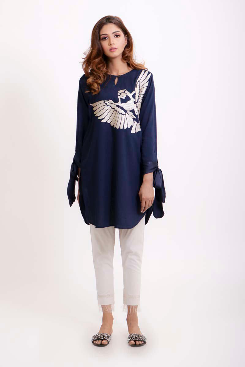 999e4116bd Blue eagle Traditional Embroidered Kurti For Women