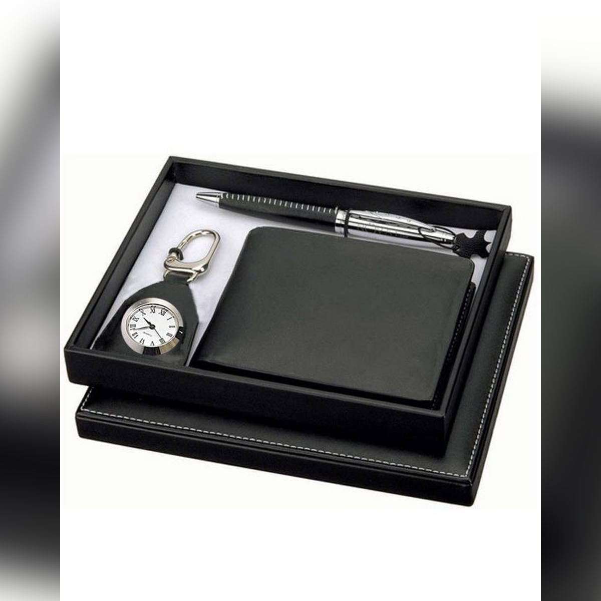 3in1 Gift Set With Keychain Watch