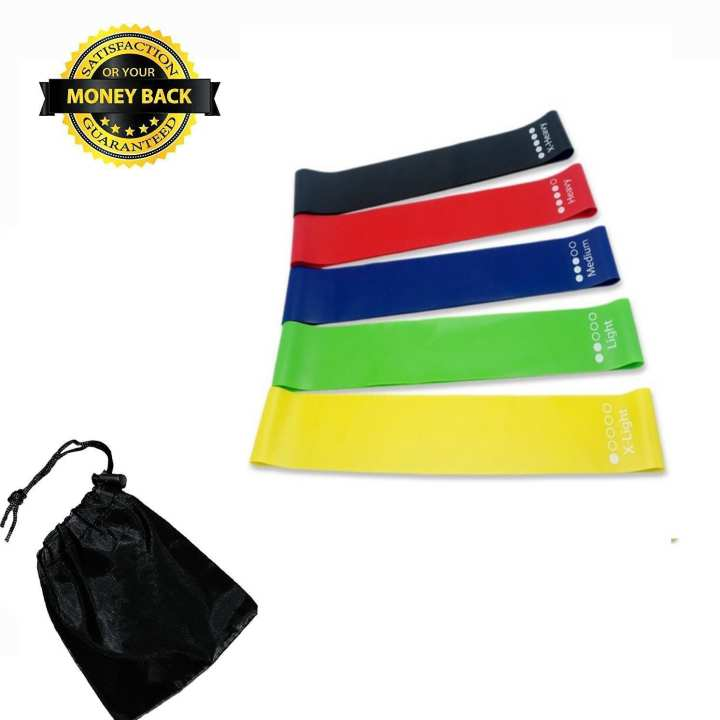 Pack of 5 - Resistance Exercise Bands - Home Exercise - Multicolor