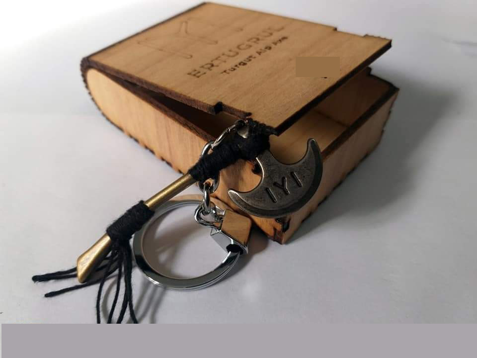 Turgut Alp Axe' Ertugrul Kayi IYI series Keychain keyring