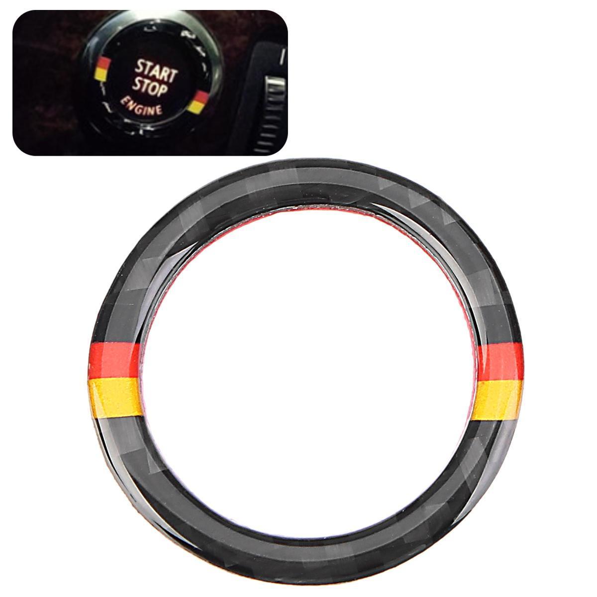 M Stripe Logo Start Stop Button Cover Key Ignition Stickers For BMW E90 E92  E93 (Germany Color)