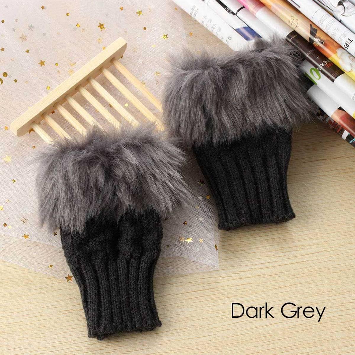 Wool Gloves Fancy Winter Women Grils wool glovs Gloves Knitting Woo wool glovs l Keep Warm Short Mitten Fingerless Lady Girl Half Finger Gloves Rabbit Lady hand Gloves  KAAA549