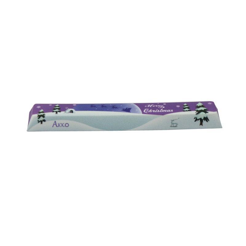 AKKO Merry Christmas Dye-sub PBT Space Bar Keycap 6 25u Keycap for  Mechanical Keyboard